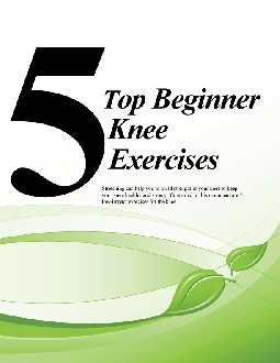 5 Top Beginner Knee Exercises