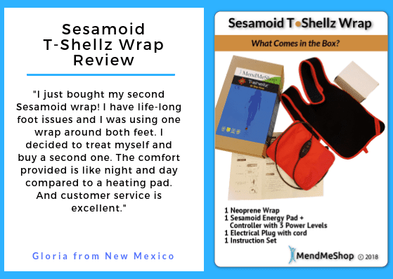 My Review: Sesamoid T Shellz Wrap is far superior to a heating pad
